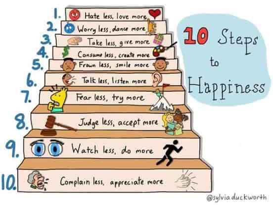 10 pasi catre fericire